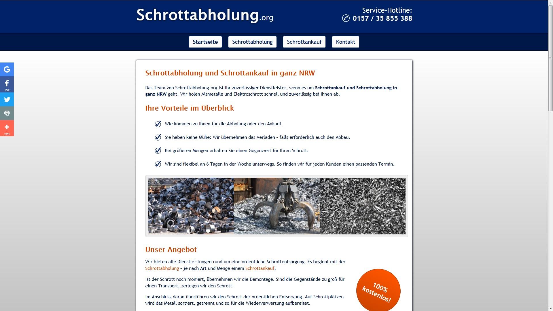 Schrottabholung hat Tradition: in Hagen und ganz NRW