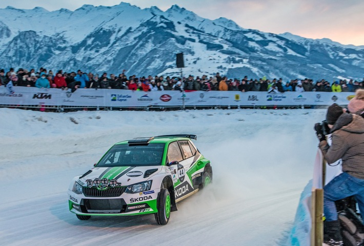 WRC 2-Champion Jan Kopecky gewinnt GP Ice Race vor SKODA Markenkollege Julian Wagner